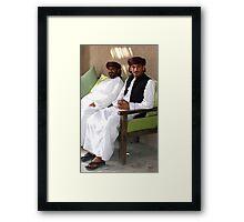 Sitting Men, Oman Framed Print