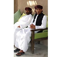 Sitting Men, Oman Photographic Print