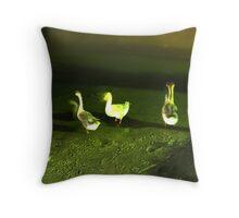 Geese Dance Throw Pillow