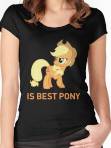 Applejack Is Best Pony - MLP FiM - Brony Women's Fitted Scoop T-Shirt