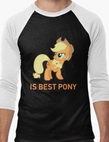 Applejack Is Best Pony - MLP FiM - Brony Men's Baseball ¾ T-Shirt