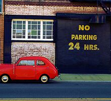 Little Red Car- Williamsburg, NY by JessH