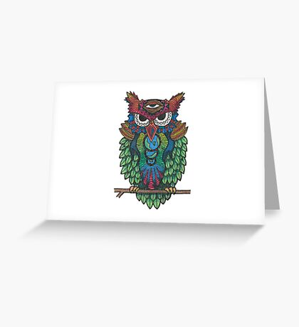 Cosmic Owl Greeting Card