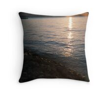reflections on the hudson Throw Pillow
