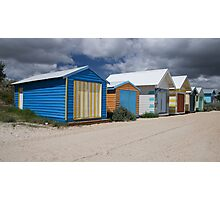 Safety Beach Huts Photographic Print