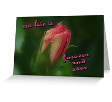 Our Love Is Greeting Card