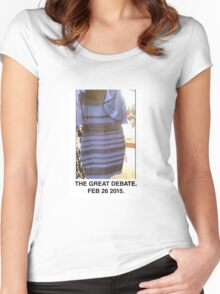 Black and Blue? White and Gold? Women's Fitted Scoop T-Shirt