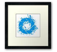 Portal Aperture Science Splatter Logo Framed Print