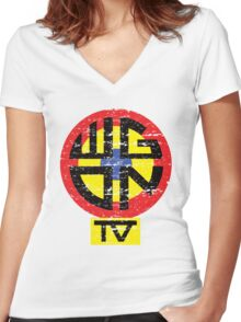 WGON TV Women's Fitted V-Neck T-Shirt