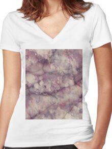 Marble Art V1 Women's Fitted V-Neck T-Shirt