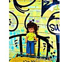 Back Alley Bin Doll Photographic Print