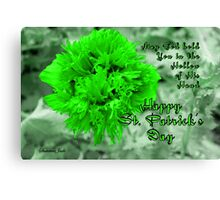 An Irish Blessing for St. Patrick's Day Canvas Print