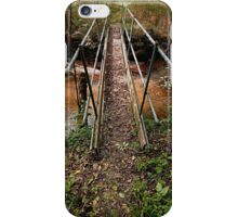 A bridge, a trail and the forest | architectural photography iPhone Case/Skin