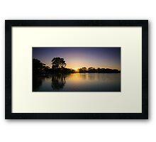 Boort Lakes at Sunrise Framed Print