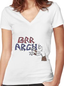 Brr Argh Women's Fitted V-Neck T-Shirt