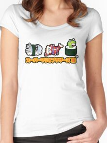 Super Mario Bros Sushi Women's Fitted Scoop T-Shirt