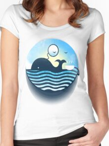 Sir Of Whales Tea Time Women's Fitted Scoop T-Shirt