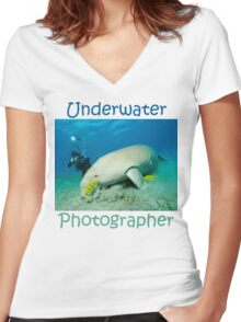 Underwater Photographer Women's Fitted V-Neck T-Shirt
