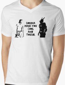Cool and Tough Mens V-Neck T-Shirt
