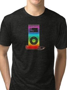 Rainbow Ipod 2 Tri-blend T-Shirt