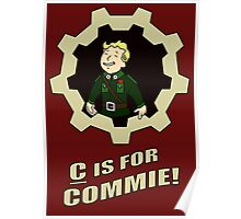 C is for Commie Poster