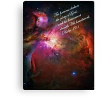 The Orion Nebula Declares! Canvas Print