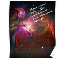 The Orion Nebula Declares! Poster