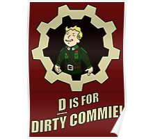 D is for Dirty Commie Poster
