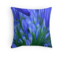 blue congregation Throw Pillow