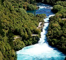 Huka Falls by Cathryn Swanson
