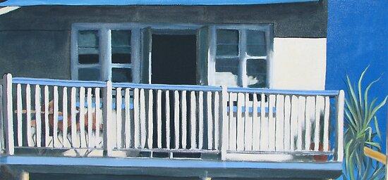 The Verandah - acrylic on canvas by ChristineBetts