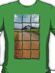 Country road into vibrant scenery | landscape photography T-Shirt