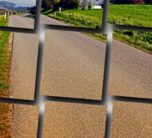 Country road into vibrant scenery | landscape photography Sticker