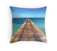 Beachport Jetty Panorama Throw Pillow