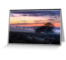 Freezing fog at sunset Greeting Card