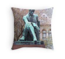Aleksis Kivi (1834-1872), statue in Helsinki Throw Pillow