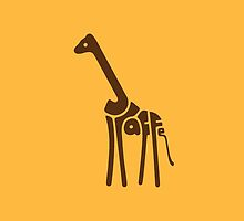 Giraffe Typography by new-thang