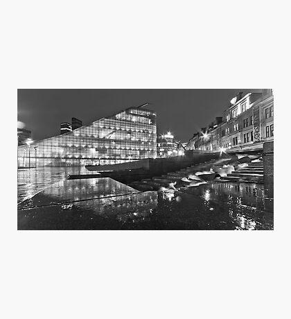Rainy night in Manchester Photographic Print