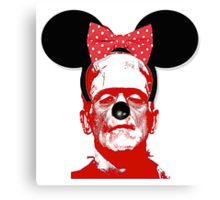 Frankie In Disneyland Canvas Print