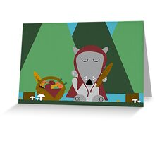 wolf picnic Greeting Card