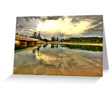 Captured Reflections - Narrabeen Lakes - The HDR Series Greeting Card