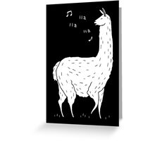 Song Of The Llama Greeting Card