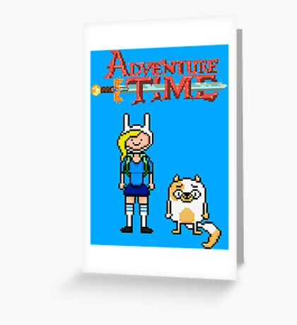 ADVENTURE TIME WITH FIONNA AND CAKE  Greeting Card