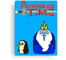 ADVENTURE TIME WITH ICE KING AND GUNTER Canvas Print