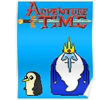 ADVENTURE TIME WITH ICE KING AND GUNTER Poster