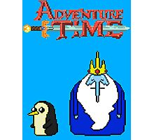 ADVENTURE TIME WITH ICE KING AND GUNTER Photographic Print