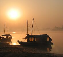 Ganges Sunrise by Jeff Barnard