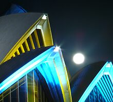 Full Moon Over Sydney Opera House by SeeingTime