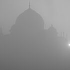 Taj misty sunrise by Jeff Barnard