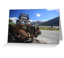 Old style car Greeting Card